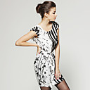 Printed Patterns With Belt Dress / Women's Dresses (FF-D-BL0736718)