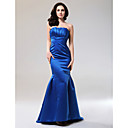 Trumpet/Mermaid Strapless Floor-length Satin Evening Dress inspired by Katherine Heigl