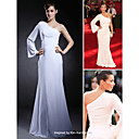 Chiffon Trumpet/ Mermaid One Shoulder Floor-length Evening Dress inspired by Kim Kardashian at Emmy Awards (FSD0366)