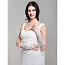 Beautiful Satin Fingerless Elbow Length Bridal Gloves