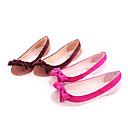 Sheepskin Upper Flat Closed-toes With Bowknot Fashion Shoes