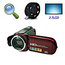 "hd 1280 * 720 @ 30fps 5MP 8xdigital zoom digitale video camera met 2.7 ""LCD-scherm tv-out functie (hd-c4)"