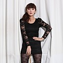 2011 Asian trend Long sleeve shirt with lace sleeves K129