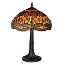 16 Inch Tiffany-style Yellow With Dragonfly Pattern Table Lamp (0835-G161467B)