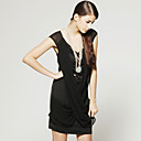 TS Shoulder Perspective Design Sleeveless Dress