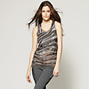 Zebra Patterns Sequins Mesh Dress / Women's Vest (FF-F-CCtb1410001)