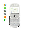 Dual SIM Twist Slide Unlocked Cell Phone With QWERTY Keypad + TV (White)