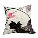 Cushion Cover-Ink Painting Lotus IV
