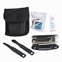 Bicycle Repair Tool + Puncture Repair Kit + Nylon Storage Pouch