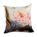 Cushion Cover-Brush Painting lotus II