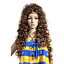 Capless Extra Long Top Grade Quality Synthetic Brown Curly Hair Wig