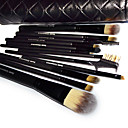 Makeup Brushes Set Kit With Lozenge Grain Case (12 PCS)