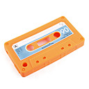 Cassette Style Silicon Case for iPhone 3 (Orange)