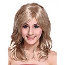 Part Hand Tied Capless Long High Quality Synthetic Light Golden Curly Hair Wig