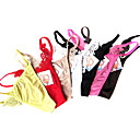 6 Pieces Lycra Low Waist Thongs With Lace Wedding/ Party/ Honeymoon Panties