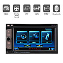 6,2 pollici digitale a schermo 2 din lettore dvd auto con controllo gps bluetooth ipod ruota tv sterzo