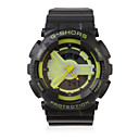 Waterproof Sporty Double Movement Digital Stop Watch with Night Light - Green