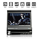 7 pulgadas 1DIN coches reproductor de DVD con GPS bluetooth tv rds