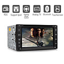 6.2 Inch 2 Din Car DVD Player Support IPOD Bluetooth RDS Steering Wheel Control