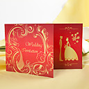 Gorgeous Red Folded Wedding Invitation (Set of 60)