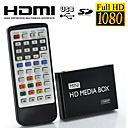 Full HD 1080p mini-jogador multi-media para tv, suporte USB, carto SD e HD, sada HDMI