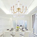 Elegant Crystal Chandelier with 6 Lights
