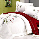 Ink Mood 4-piece Queen Duvet Cover Set (Burgundy)