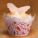 Purple Laser Cut Butterfly Cupcake Holders (Set of 12)