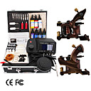 2 Damaskus handmade Tattoo Gun Kit mit LED-Leistung