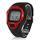Calorie Counter Pulse Heart Rate Monitor Stop Automatic Watch - Red