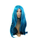 Capless High Quality Synthetic Long Blue Costume Party Wig