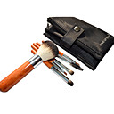 6 Pcs Travel Size-Case Grain Makeup Brush Set