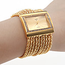 vrouwen diamanten armband stijl polshorloge (goud)