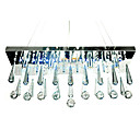 Modern Crystal Semi Flush Mount in Round