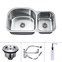 35 inch Undermount Stainless Steel Kitchen Sink (Double bowl)