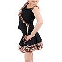 dancewear de polister con volantes / animal print top latin y falda dos jugadas a baln parado para los nios