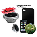 190°Super Fish Eye Lens with Protective Back Case for Apple iPhone 4