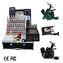 3 kit de tatouage fusils avec Power LCD et 40 d'encre couleur