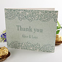 Folded Thank You Card - Leaves(set of 50)