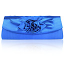 Gorgeous Shining Satin Shell With Applique Evening Handbags/ Clutches More Colors Available