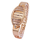 Rhinestone Striped Oval Face Japanese Quartz Watch (More Colors)