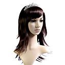 Capless Mid Long 100% Japanese Kanekalon Fiber Chocolate Body Wave Hair Wig