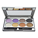 8 Colors Eye Shadow Palette with Free Brush(3#)
