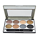 8 Colors Eye Shadow Palette with Free Brush(2#)