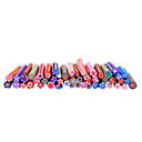 50pcs 3D Cane Stick Rod Sticker Nail Art Decoration -Flower Sets