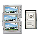 7 Inch Photographed Video Door Phone System (3 LCD Screens, Rain Cover)