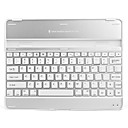 Ultra-Slim USB Rechargeable Wireless Bluetooth V2.0 82-Key Keyboard Aluminum Alloy Case for iPad 2 and The new iPad