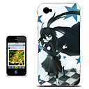 Black Rock Shooter Blue Star Version Anime Case for iPhone 4/4s