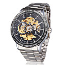 Fashion Coloring Mechanical Black Gold Men's Watch