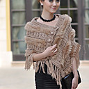 TS Crochet Tassel Rabbit Fur Shawl (More Colors)